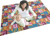 Tapete Colchonete Dobrável de Atividades Infantil Emborrachado Alfabeto Letras Abecedario 130x100cm - Baby crawler