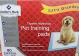 Tapete Pet Higiênico Descartável Training Extra grande 80 Un - Members mark