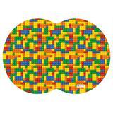 Tapete PET Mdecore Geométrico Geométrico Colorido