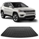 Tapete Porta Malas Bandeja Jeep Compass 2017 e 2018 Preto Fabricado em PVC com Bordas de Segurança - Requinte tapetes