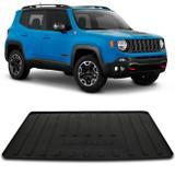 Tapete Porta Malas Bandeja Jeep Renegade 2015 a 2019 Preto Fabricado em PVC com Bordas de Segurança - Requinte tapetes