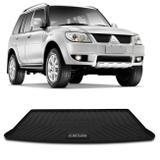 Tapete Porta Malas Bandeja Mitsubishi Pajero TR4 2004 a 2015 Preto em PVC Impermeável 1 Peça Shutt