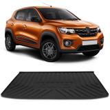 Tapete Porta Malas Bandeja Renault Kwid 2017 2018 Preto Fabricado em PVC com Bordas de Segurança - Requinte tapetes