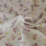 Tecido fralda dupla dohler estampada 70x70 cm 100% algodão rosa