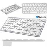 Teclado Bluetooth para Tablet Android e iOS Branco/Prata - Bd cases