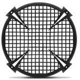 Tela Alto Falante 12 Polegadas Master Fiamon Tipo Grade Preto Resistente - Fiamon sound componentes