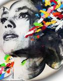 Tela Canvas Mulher Aquarela Preto e Branco - Stickerboom