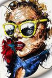 Tela Canvas Mulher Aquarela - Stickerboom