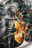 Tela Canvas Mulher Violoncelo - Stickerboom