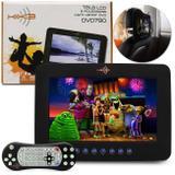 Tela Encosto Cabeça 9 Polegadas DVD790 LCD DVD USB SD MP3 MP4 Fone Função Game Com Controle Remoto - Kx3