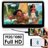 "Tela Encosto Cabeça Acoplavel 10"" Full HD Espelhamento Android USB SD Card Mp5 First Option"