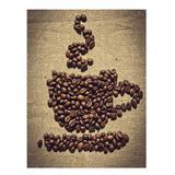 Tela - Graos de Cafe - Xicara - Urban distribuidora