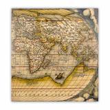 Tela Impressa Mapa Oriente Fullway 100x100x4