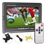 Tela Monitor Lcd 7 Dvd/ Tft / Colorida Com Controle - Security parts