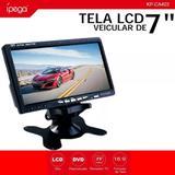Tela Monitor Veicular Lcd 7 Polegadas Portátil Controle Rca 800x480 KP CA404 - Ipega