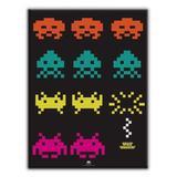 Tela si space invaders the game fd preto 30x40x1.5cm - Urban