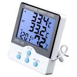 Termômetro de Máxima e Mínima Interno e Externo com Higrômetro HTC-2A - Genérico