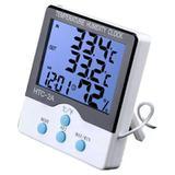 Termômetro Medidor Temperatura Umidade Interno e Externo com Higrômetro HTC-2A - Thata esportes
