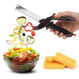 Tesoura de Alimento Faca Corta e Fatia Clever Cutter 2 em 1 (93190) - Smart cutter
