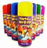 Tinta Spray Colorida p/ Cabelo Cores Variadas Kit 5 Unid. Tinta da Alegria