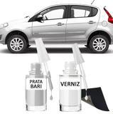 Tinta Tira Risco Automotivo para toda a linha Fiat Prata Bari - Sean car