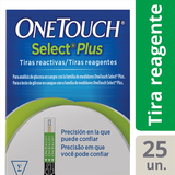 Tiras OneTouch Select Plus 25 Unidades