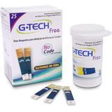 Tiras para Medidor de Glicose G-Tech TTFR125 com 25 Unidades