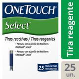Tiras Reagentes OneTouch Select 25 Unidades