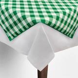 Toalha de Mesa Cobre Mancha Quadrado em Tecido Xadrez Verde e Branco 0,80m - Festabox