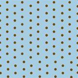 Toalha de Mesa Descartável Azul com Poá Marrom 10 unidades Plaspet - Festabox