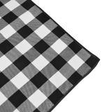 Toalha de Mesa Retangular em Tecido Xadrez Preto e Branco 2,20m - Festabox