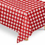 Toalha de Mesa Tnt Poá Vermelho e Branco - Festabox