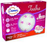 Toalha Fralda Luxo Estampa Menina Cremer Caixa Com 3 Unidades - 70x120cm