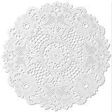 Toalha Rendada Branca Redonda Papel 25cm Mod. 252 c/12 - Mago