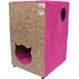 Toca Para Gatos Ecológica 2 Andares Rosa - Recriar