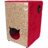 Toca Para Gatos Ecológica 2 Andares Vermelho - Recriar