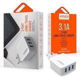 Tomada Carregador Turbo 15w 3 Usb Celular Tablet Universal - Kaidi