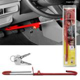 Trava Anti Furto Volante Pedal Com Algema Peugeot 206 207 208 e universal - Sw