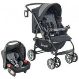 Travel System AT6 K com Cadeira Touring SE Preto com Cinza - Burigotto