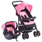 Travel System - Moove - Rosa Trama - Cosco