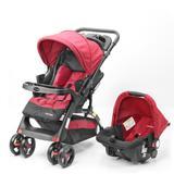 Travel System Prime Baby Concord Max 3 Posições - Vermelho