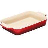 Travessa de cerâmica retangular Le Creuset vermelha 32 cm - 104109