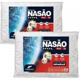 Travesseiros Nasa - Kit 2 Unidades - Visco - Toque Massageador - Fibrasca