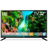 """TV LED 32"""" HQ HQTV32 Resolução HD com Conversor Digital 3 HDMI 2 USB Recepção Digital"""