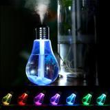 Umidificador De Ar Em Formato De Lâmpada Ilumina 7 Cores - Jpcell