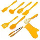 Utensílios Cozinha 9 Peças Silicone AMBAR WECK Amarelo