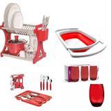 Utensílios De Cozinha Vermelho Super Kit - Clink