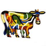 Vaca Multicores Para Decoração - Maisaz