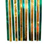 Varal de Fitas Metalizadas Brasil - Verde e Amarelo - 100 metros - Badulake