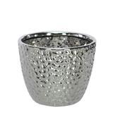 Vaso Cerâmica Prata 14 cm - Flor arte